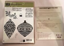 Stampin' Up! Embellished Ornaments Stamp Set & Delicate Ornaments Thinlits dies