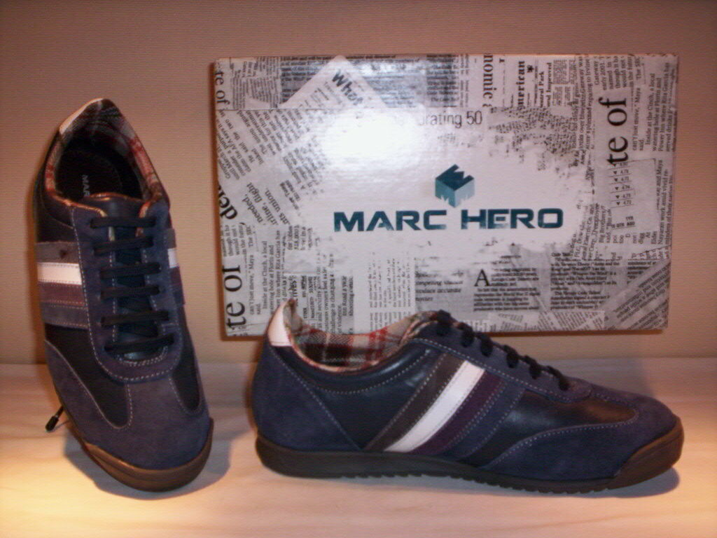 Sports schuhe low Turnschuhe Marc 39 Hero man casual Leder 39 Marc 40 41 42 43 44 45 d9a76b