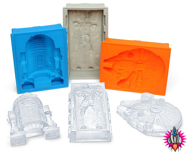 NEW OFFICIAL STAR WARS LARGE RUBBER SILICON JELLY CHOCOLATE ICE CUBE MOULD