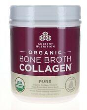 Ancient Nutrition Organic Bone Broth Collagen Pure Flavor 30 Servings Size -