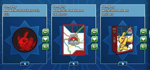 deckbox coins Gameplay Pokemon online tcg PTCGO Worlds 2014 sleeves