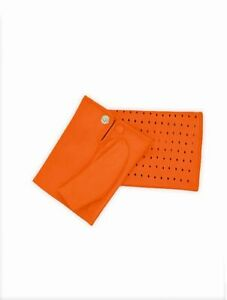 Fingerless gloves orange for women