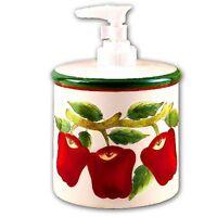 Red Apple Ceramic Soap Lotion Dispenser (c30)