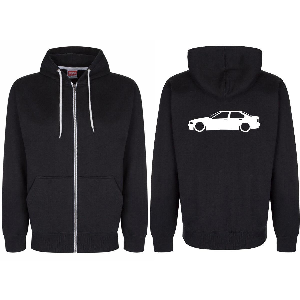 BMW E36 4 door Rear Logo Zip Through Hoody Hoodie Hooded Top