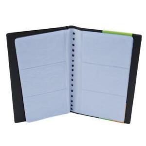 Business Name Card Holder Book Cover Case Pouch Folder Black Color JA