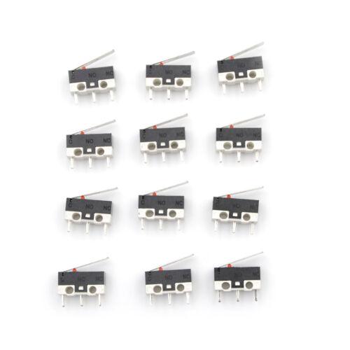 10 Stücke 2A 125 V Micro Endschalter Hebel Rollenarm Betätiger SchnappschaltRSDE