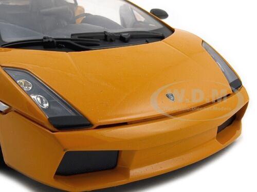 LAMBORGHINI GALLARDO SUPERLEGGERA ORANGE 1:18 MODEL CAR BY MOTORMAX 73181