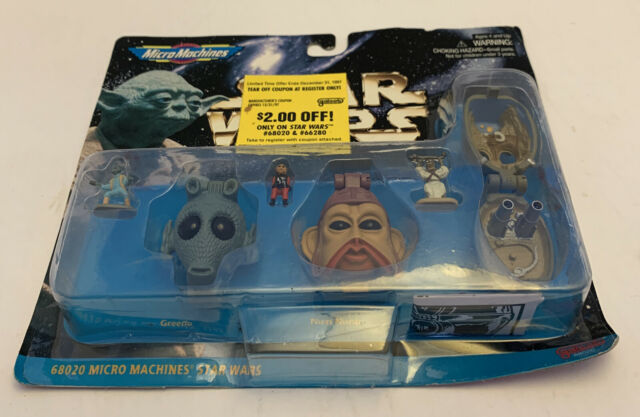 Star Wars Micro Machines Boba Fett, Admiral Ackbar, Gamorrean Guard NEW Galoob