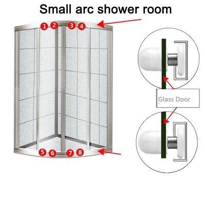 8 Pcs Shower Door Wheels Sliding Door Wheels for Shower Enclosures Shower Cabins