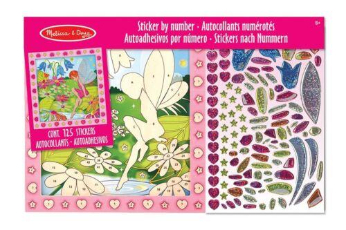 """# Melissa /& Doug 14299 Stickerbrett /""""Blumenfee/"""" Sticker nach Zahlen NEU"""
