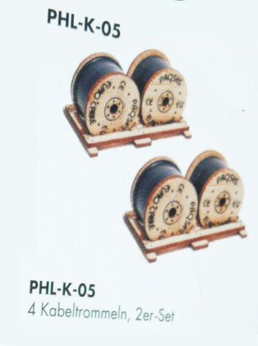 HS Proses PHL-K-05 Bausatz Wagenladung 4 Kabeltrommeln 2 er Set