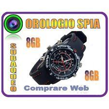 OROLOGIO SPIA MICRO CAMERA 8GB SPY WATCH + MICROCAMERA + FOTOCAMERA + REC AUDIO