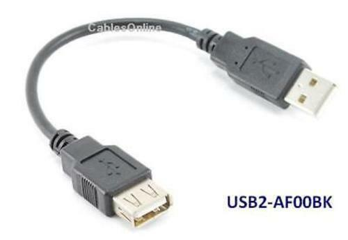 6 inch USB 2.0 A Male to Female Extension Cable Cord