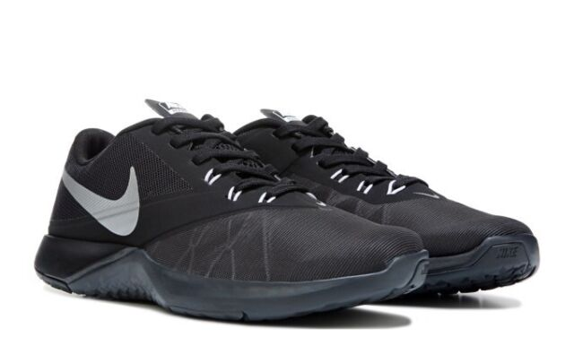 Nike FS Lite Trainer 4 844794-001 Anthracite Silver Black Mens US size 8.5 b46115687