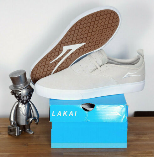 Lakai Footwear Skate Schuhe Shoes Riley Hawk 2 White Suede 11,5//46