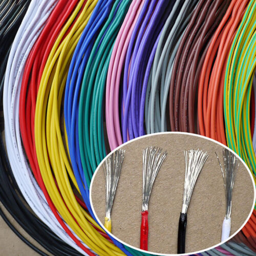 UL 1007 PVC Electronic Wire Cable 26 24 22 18 AWG Flexible Stranded 300V ULVW-1