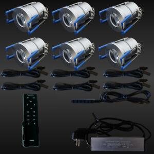 6er-SET-LED-TERRASSENBELEUCHTUNG-Minispot-Terrasse-Carport-Beleuchtung-DIMMBAR