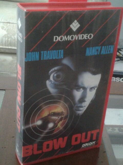 Blow Out (1981) VHS originale Domovideo - JOHN TRAVOLTA - BRIAN DE PALMA