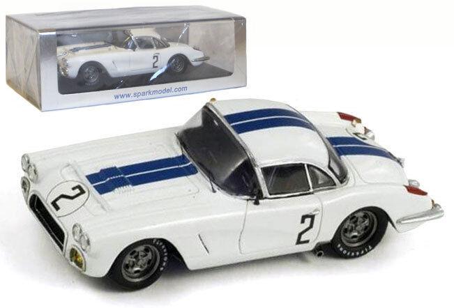 Spark s1538 Chevrolet Corvette Le Mans 1960-thompson windridge 1 43 Escala