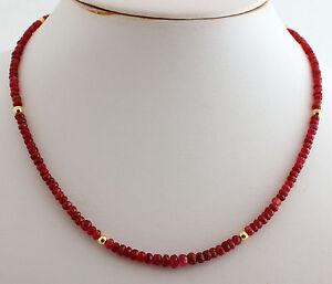 RUB-NATURAL-Cadena-De-Piedra-Preciosa-Tallado-en-facetas-Collar-de-rubies