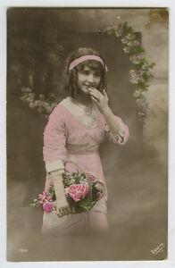 1910s-Child-Children-PRETTY-YOUNG-GIRL-kids-photo-postcard
