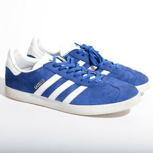 Details about Men's Adidas Gazelle Blue Suede Trefoil Size 12