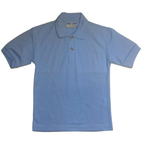 Red Tough Brand New Quality Banner Cogs School Polo tough /& smart - Sky Blue