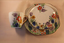 DORIC CHINA COFFEE CAN COFFEE CUP TRIO CUP SAUCER & PLATE RARE ANTIQUE ART DECO