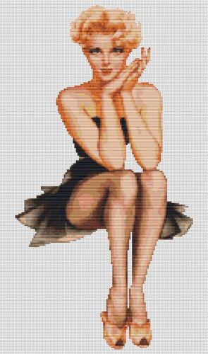 Varga Pin Up Girl 3 Counted Cross Stitch Kit