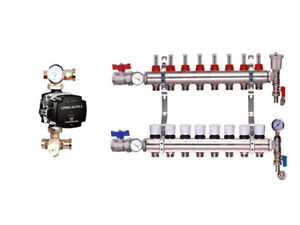 Underfloor heating manifolds 2 12 ports a rated grundfos or wilo image is loading underfloor heating manifolds 2 12 ports 039 a cheapraybanclubmaster Choice Image