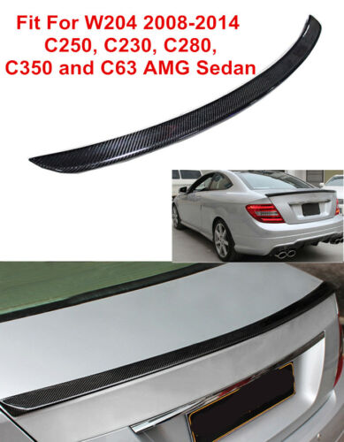 Fit For MERCEDES BENZ W204 C Class 2008-2014 AMG TYPE CARBON FIBER TRUNK SPOILER