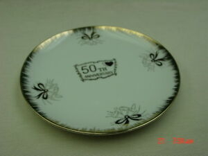 Image Is Loading Vintage 50th Wedding Anniversary Plate Fine China Society