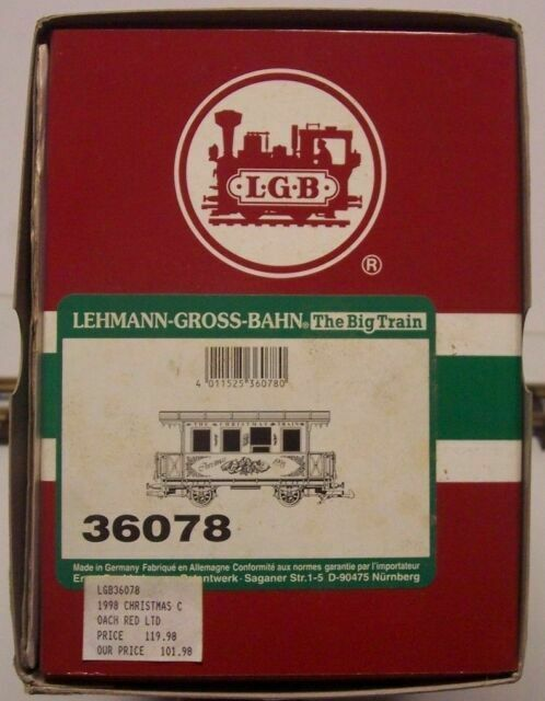 Lgb 36078 The Christmas Passenger Coach 1998 G Scale For Sale Online Ebay