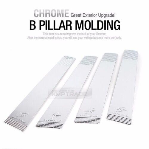 Chrome B Pillar Post Garnish Cover Trim K844 4P for KIA 2008-2010 Picanto