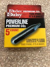 Daisy Powerline Premium Co2 Cylinders 12 Gram Paintball or Airsoft 5 Cartridges