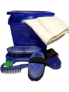 HAAS-034-Kinderbox-blau-034-Putzbox-Putzkasten-gefuellt-mit-6-Teilen