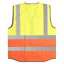 Warrior-Zipped-Executive-High-Visibility-Vest-Waistcoat-ID-Pocket-Hi-Vis-Viz-New