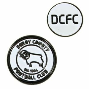 Derby-County-Football-Club-Crest-Double-Sided-Golf-Ball-Marker-with-Free-UK-P-amp-P