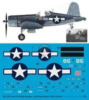 Peddinghaus 1/32 F4u-1d Corsair Markings Gregory Boyington Black Sheep Sq. 2332