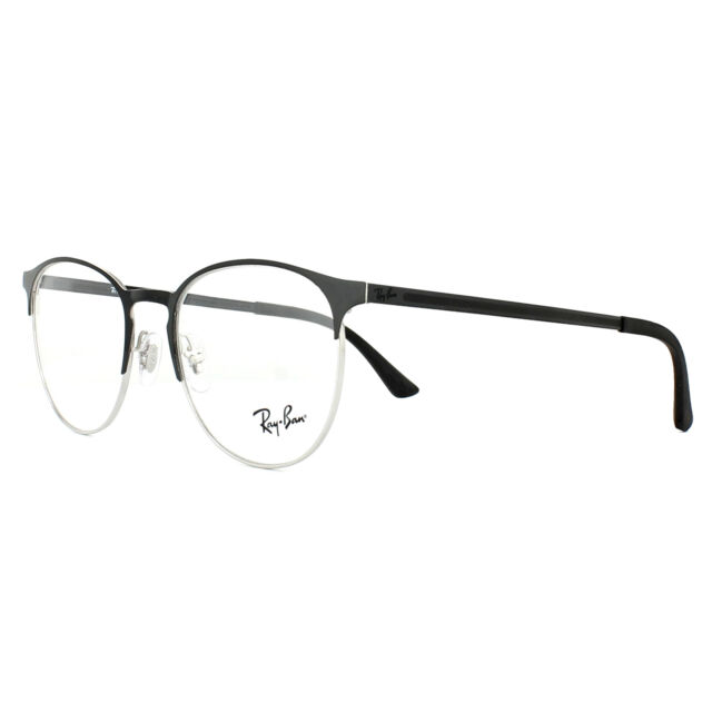 Ray-Ban Glasses Frames 6375 2861 Silver on Top Black 51mm