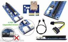 USB 3.0 PCI-E Express 1x to16x Extender Riser Card Adapter SATA Cable latest ver