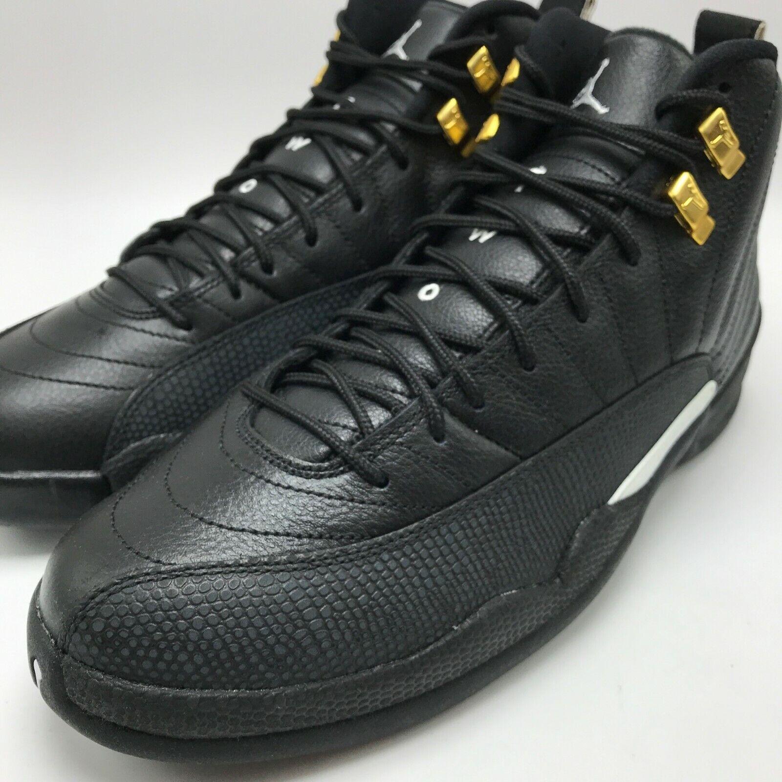Nike Air Jordan 12 Retro Men's Basketball Shoes BlackWhite Black 130690 013