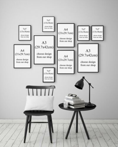 MEGA BUNDLE Set of 10 Home Custom Design Gallery Wall Art Poster Prints Bedroom