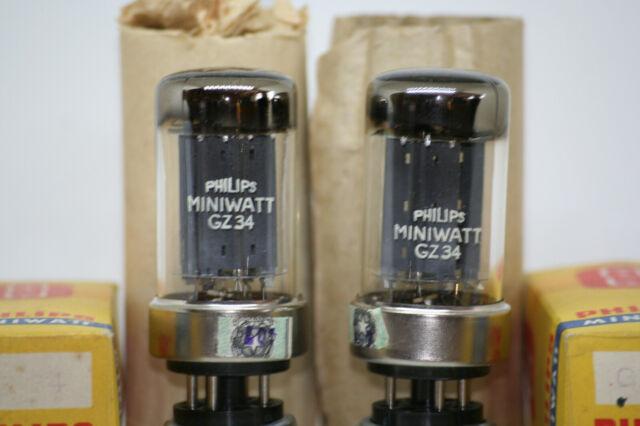 gz34 tube 5ar4 mullard nos nib valve metal base 5u4g 6sn7 12ax7 el34 gz32 gz37