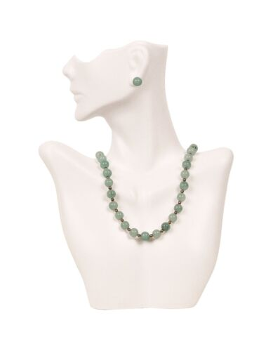 Necklace and Earring Bust Jewelry Display White