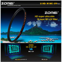 ZOMEI 52/58/62/67/72/77/82mm HD Slim Multi-Coated MC UV Filter For DSLR Camera