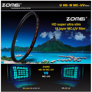Zomei-72mm-U-HD-Slim-Multi-Coated-UV-MCUV-Filter-lens-Protector-For-DSLR-Camera