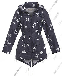 latest fashion classic fit matching in colour Details about NEW Womens Rain Mac Navy Raincoat Ladies White Shower Jacket  Size 8 10 12 14 16