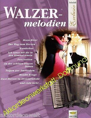 Noten für Akkordeon,Sheet Music Book  for accordion,VHR 1775 melodien Walzer