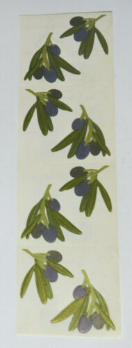 Mrs Grossman OLIVE SPRIGS Strip of Vintage Olive Sprigs Stickers